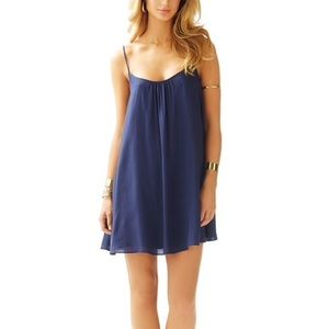 Lilly Pulitzer navy Daphne trapeze dress